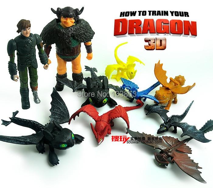 how to train your dragon cartoon figure set children 39 s toys for kid dragon toys 10 pcs per. Black Bedroom Furniture Sets. Home Design Ideas