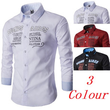 ZOGAA mens dress shirts fashion men clothes 2018 Polyester letter printing Solid color streetwear  Casual Shirts