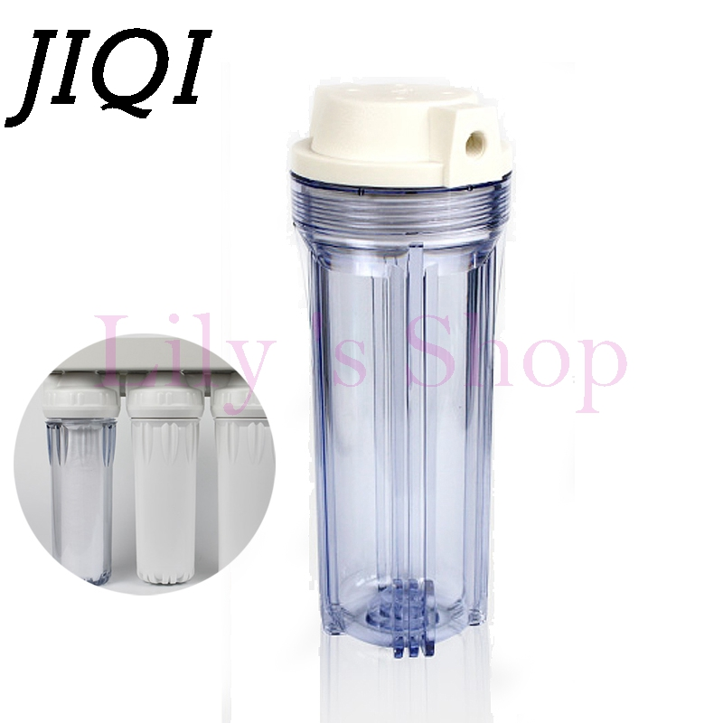 10 inches Explosion-proof Transparent Bottle Water Purifiers Accessories thicker Filter case front filters shell 2/4/6 Interface цена