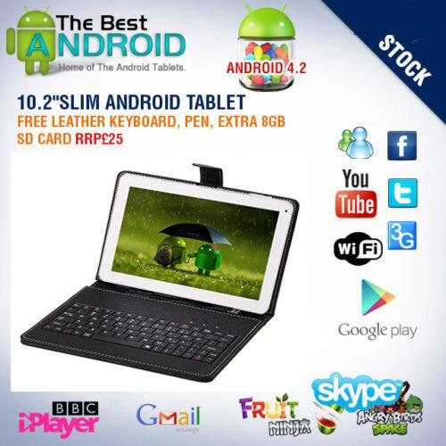 Бесплатная доставка BODA 16 ГБ Планшеты PC 10.1 дюймов Google Android 4.2 touch dual camera1gb Оперативная память HDMI чехол клавиатуры площадку комплект 8 г карты