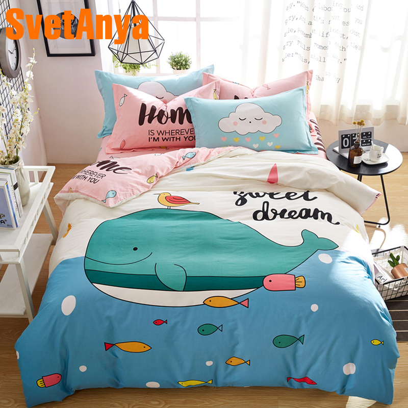 Svetanya Cartoon Bedclothes 100 Cotton Bedding Set Single Double Queen size Bedlinen Svetanya Cartoon Bedclothes 100 Cotton Bedding Set Single Double Queen size Bedlinen