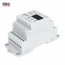 DL DC5V-24V DMX512 to 4CH 0-10V Decoder 0-10V LED Dimmer DMX 512 Signal to 0-10V Signal RGB/RGBW controller 4 Channel Dimmer(China)