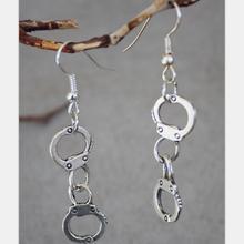 Vintage Silver Handcuff Drop Earrings For Women Hanging Dangle Earrings Statement Earrings Girls Newest Fashion Jewelry