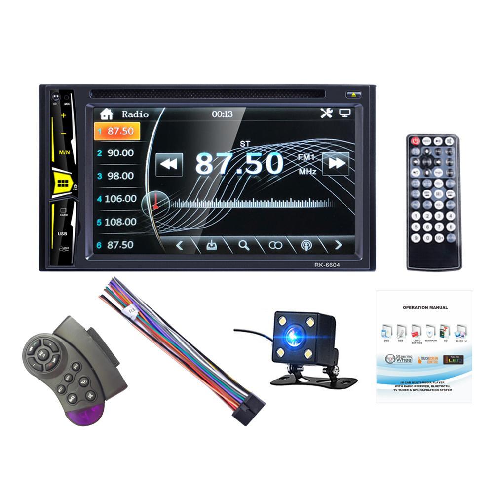 Universel Bluetooth DC12V 6.2 ''2 DIN voiture DVD lecteur CD Autoradio 1080 P écran tactile Auto Radio MP5 lecteur TF USB FM lecteur