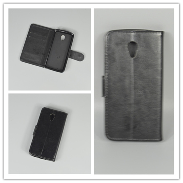 Crystal grain wallet case hold two Cards with 2 Card Holder and pouch slot for Meizu M2 Mini 5 inch Meizu M2 Mini