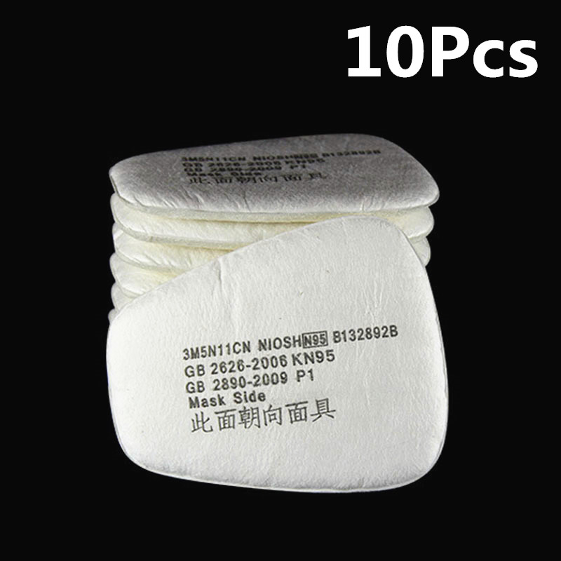 10Pcs Chemical Anti-Dust Paint Respirator Welding Safety Mask Industrial Gas Mask Activated 5N11 Carbon Filters10Pcs Chemical Anti-Dust Paint Respirator Welding Safety Mask Industrial Gas Mask Activated 5N11 Carbon Filters