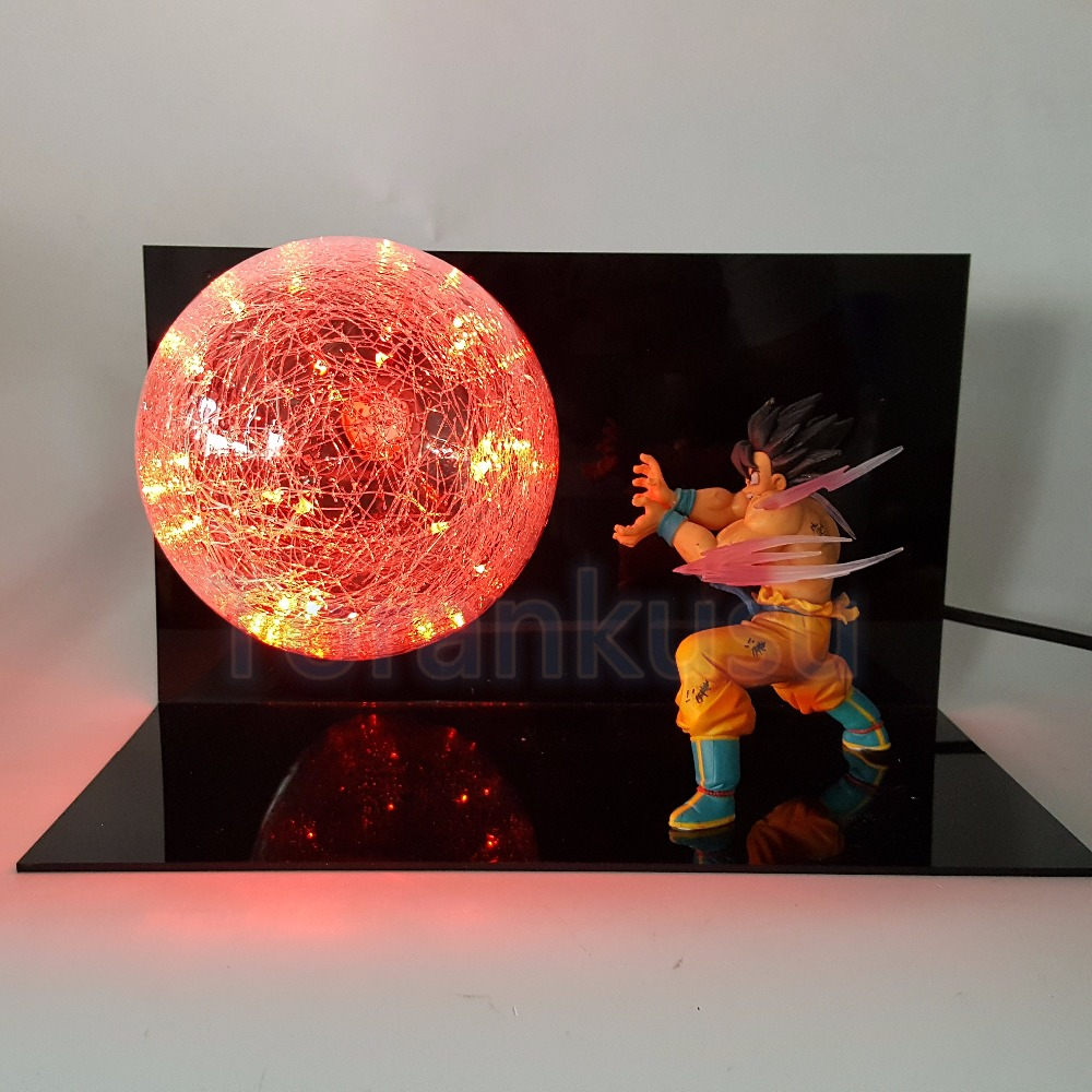 Dragon Ball Z Action Figure Son Gokou Kaiouken Kamehameha LED Light Display Toy Anime Dragon Ball Goku Collectible Model DIY154 dragon ball z action figure god goku super saiyan led lighting display toy anime dragon ball son goku collectible model diy155