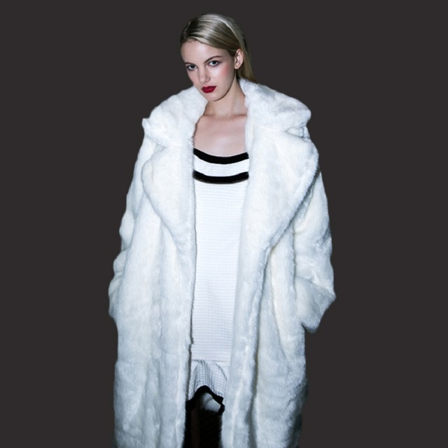 Faux fur coats women new fashion luxury 2017 fur coat series white ...