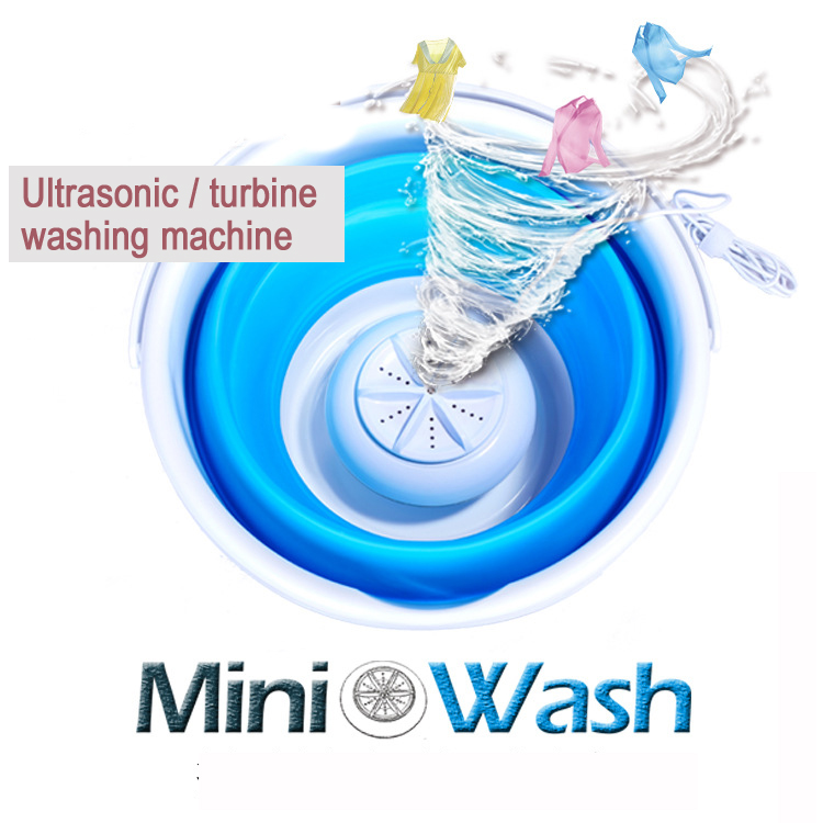 22%,Portable Ultrasonic Turbine Washing Machine Foldable Bucket Type USB Laundry Clothes Washer Cleaner for Home Travel