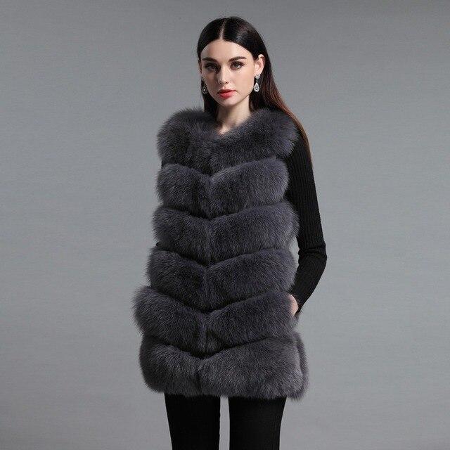 c28f15c8d7dde Futro Story 16276 New Arrival kobiet Istny Fox Fur kamizelki Stały Kolor Naturalne  Futro Kamizelka Kobiet