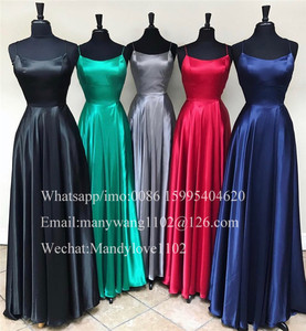 Image 2 - Elegant Backless A Line Dresses 2020เซ็กซี่ด้านหน้าแยกชุดราตรีVestidos De Fiesta De Noche Largos Elegantes