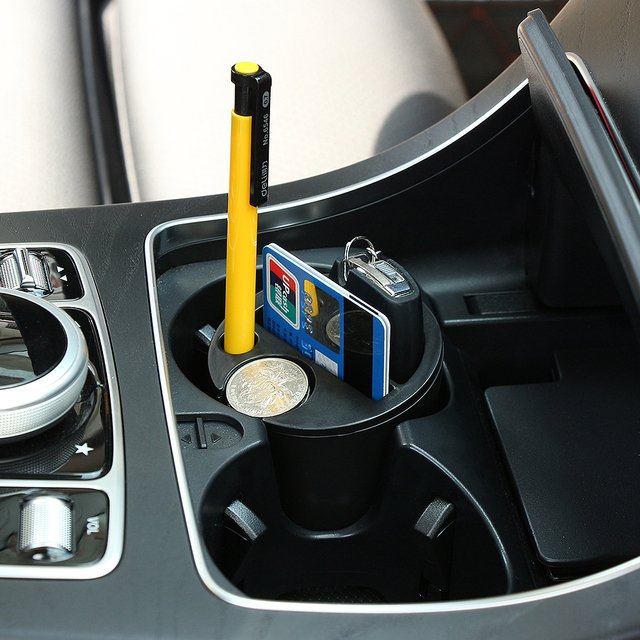 koop auto card coin cup zetel opbergdoos auto accessoires voor seat ibiza leon. Black Bedroom Furniture Sets. Home Design Ideas