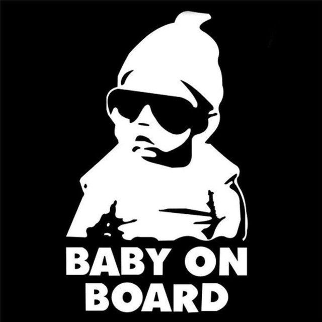 Pieceslot Wholesale Big Size Baby On Board Waterproof Funny - Funny motorcycle custom stickers decals