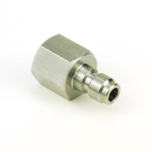 Image 4 - 3 ピースペイントボールエアガンエアガン PCP クイックディスコネクトプラグ充電ホースアダプター糸 1/8NPT 1/8BSP ステンレス鋼乳首記入