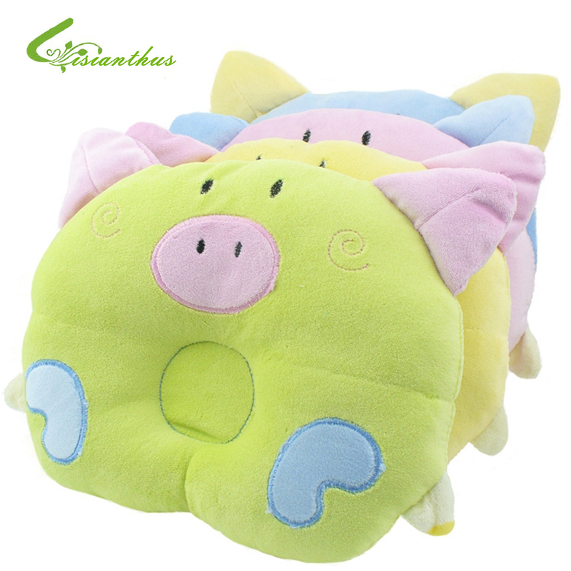 Cartoon Piggy Pig Boys Girls Pillow Support Shape Soft Velvet Cotton Baby Pillow/ Newborn Infant Animal Pillows Free Shipping