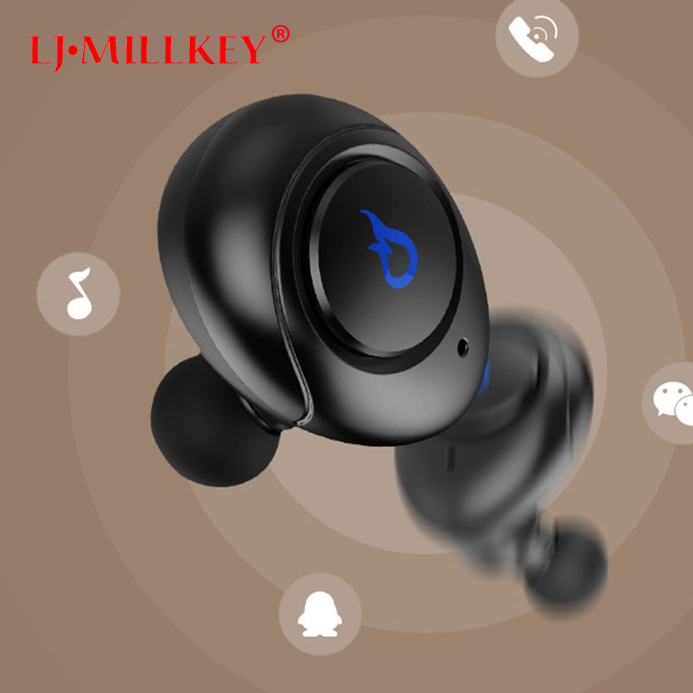Original Stereo Music TWS Mini Bluetooth Headset Twins Earphone with Mic Wireless Recharge Earbud with Power Bank YZ143 ture wireless stereo tws mini bluetooth headset twins earphone built in mic wireless recharge earbud with power bank yz165