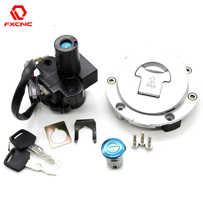 Motorcycle Ignition Switch Lock Fuel Gas Cap Lock And Seat Lock With Keys For Honda CBR600 CBR 600 F2 F 2 F3 F 3 1991 - 1998
