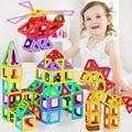 Interessante designer de bloco de construção de brinquedo de plástico de construção em massa magnética ímã blocos de brinquedo educativo 3d diy para o presente dos miúdos