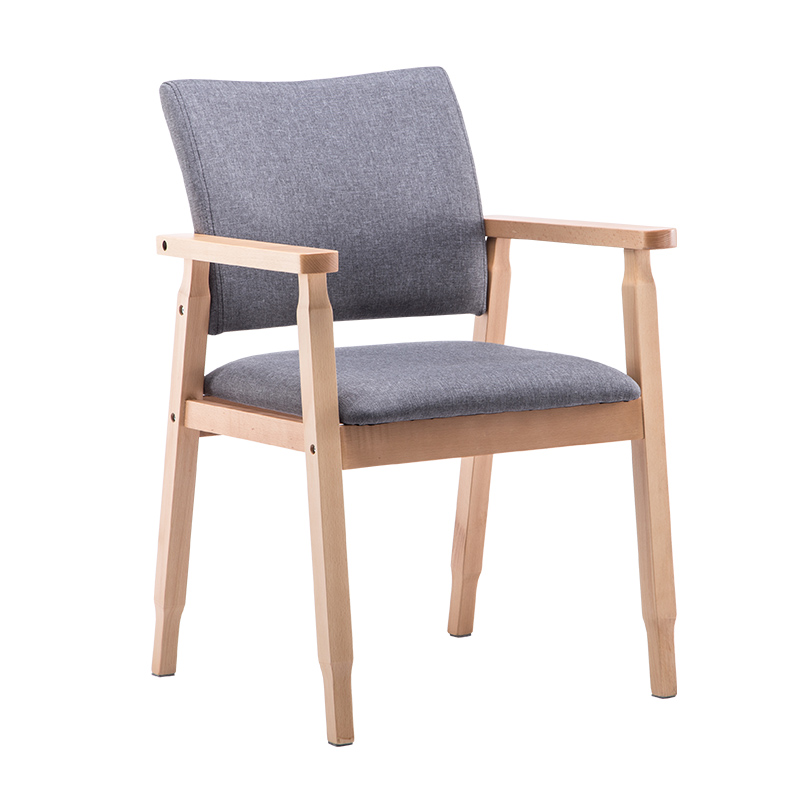 New 100% wood dining chair Nordic dining room chair coffee chair wood cotton with arms conference chair wooden furniture цена