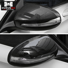 Карбоновое волокно для Mercedes Benz C w205 E W213 glc-класс X253 S класс w222 ABS пластик автомобиля зеркало заднего вида Крышка Накладка для LHD
