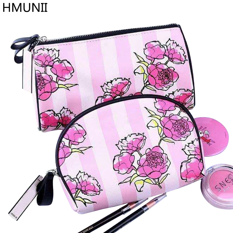 HMUNII Hot Cosmetic Bags High Quality Makeup Bags Travel Organizer Necessary Beauty Case Toiletry Bag Make up Box for Beautician