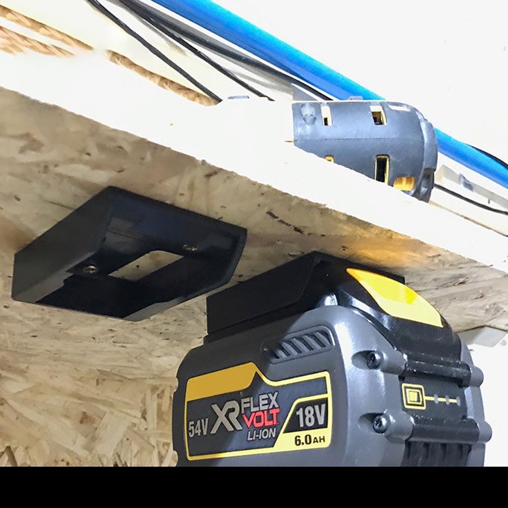 Easy To Use Durable 5x Battery Mounts For DeWalt XR 18V Storage Shelf Rack Stand Holder Slots Hanger For Workshops Shelves
