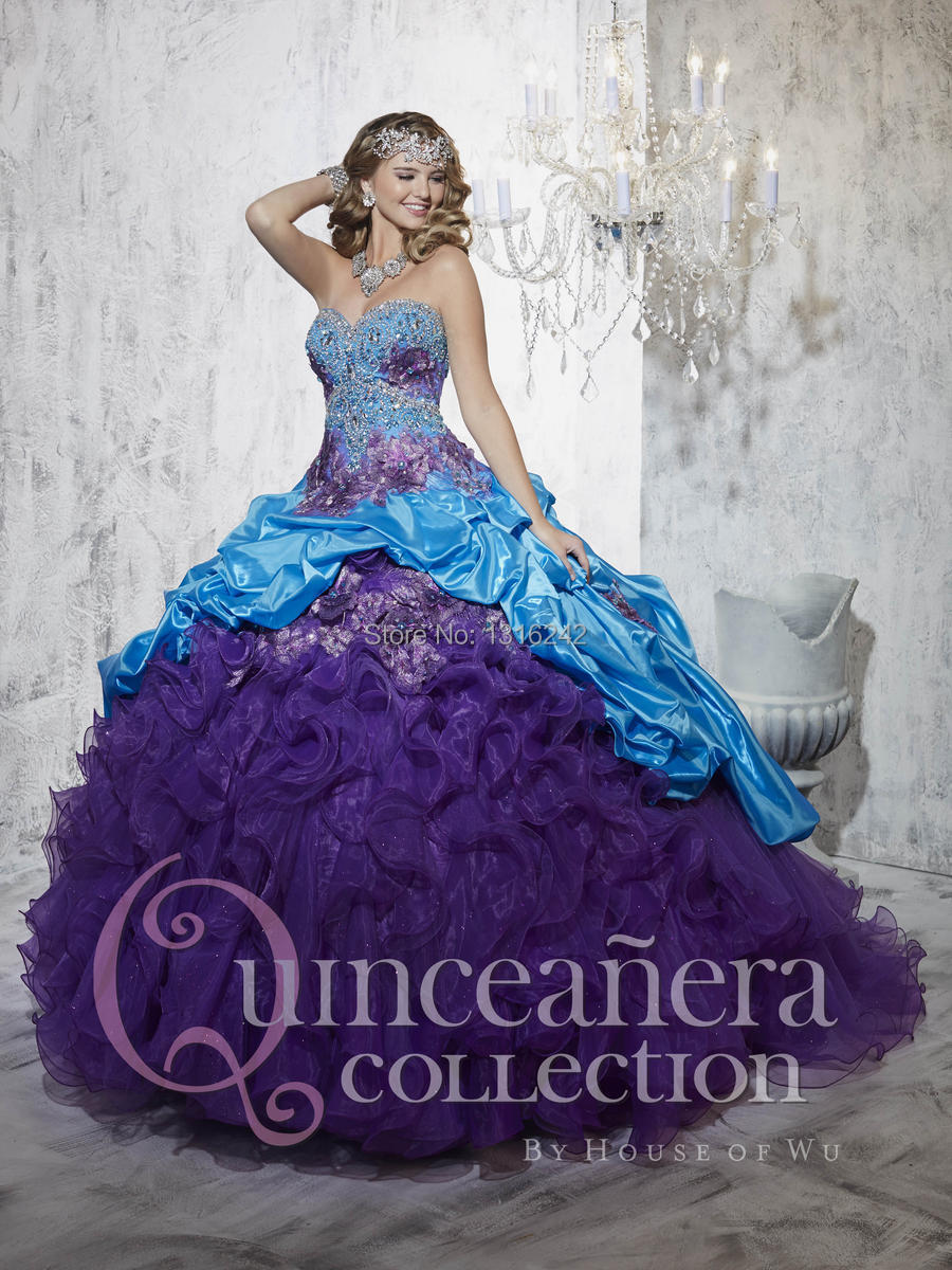 To acquire Dresses quinceanera turquoise and purple pictures trends