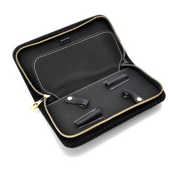 Profesional de peluquería bolsos de tijeras caso Hold 2 tijeras de pelo corte de pelo Barbero funda tijeras de peluquería funda cartuchera Styling Tool Kit