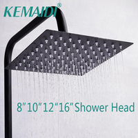 KEMAIDI ORB Finished Shower Head Romantic Bathroom Shower Head Black Shower Square Showerhead Only Shower Head