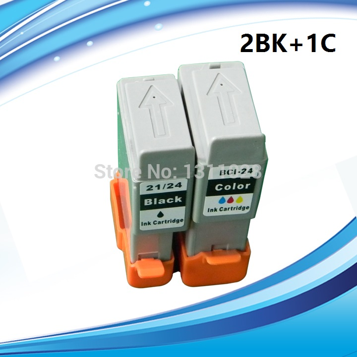 3pcs BCI-21/24 BCI-21 BCI-24 BCI 21 24 ink cartridge for canon PIXMA iP1000/iP1500/iP2000/MP110/MP130/S200/S300/S330 printer чернильный картридж canon bci 21 bk