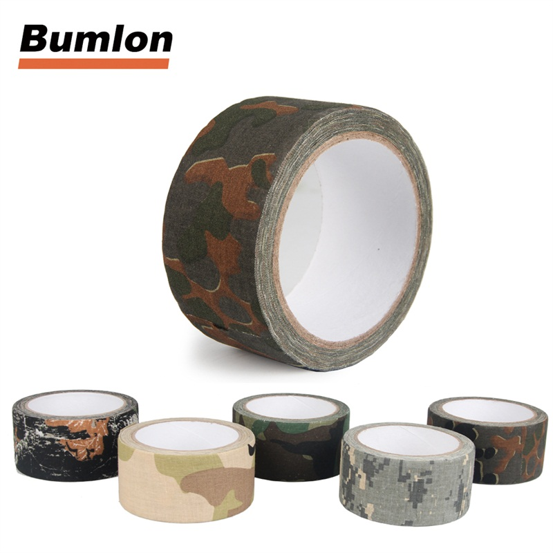 10m X 5cm Tactical Cloth Camo Tape Military Bionic Tape Camouflage Rifle/Gun Wrap Waterproof Hunting Stealth Tape 9-0002