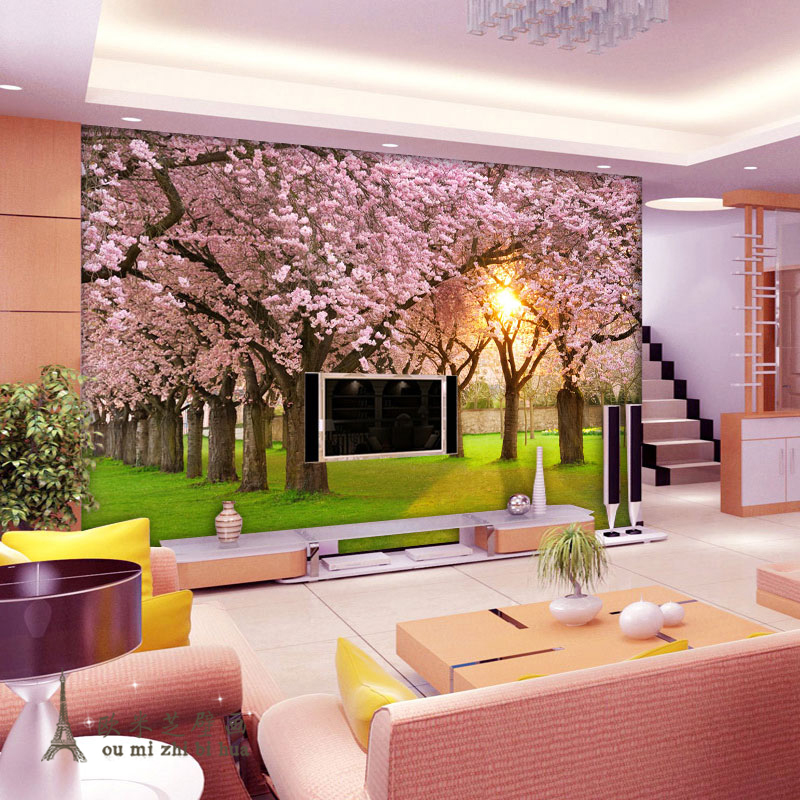 beibehang trees Custom papel de parede 3d photo wallpaper 3D stereoscopic Forest TV background 3d mural wallpaper for walls 3 d custom baby wallpaper snow white and the seven dwarfs bedroom for the children s room mural backdrop stereoscopic 3d