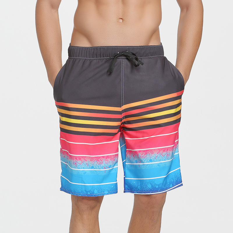 SBART2018 Men Quick Drying Printing   Board     Shorts   Trunks Mens Surfing Beach   Short   Pants Bermuda Masculina De Marca Homme   Shorts