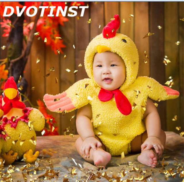 2ff6197c96b8 placeholder Newborn Baby Photography Props Unisex Fotografia Animals Chicken  Bodysuit+Hat Plush Costume Outfit Studio Shoot