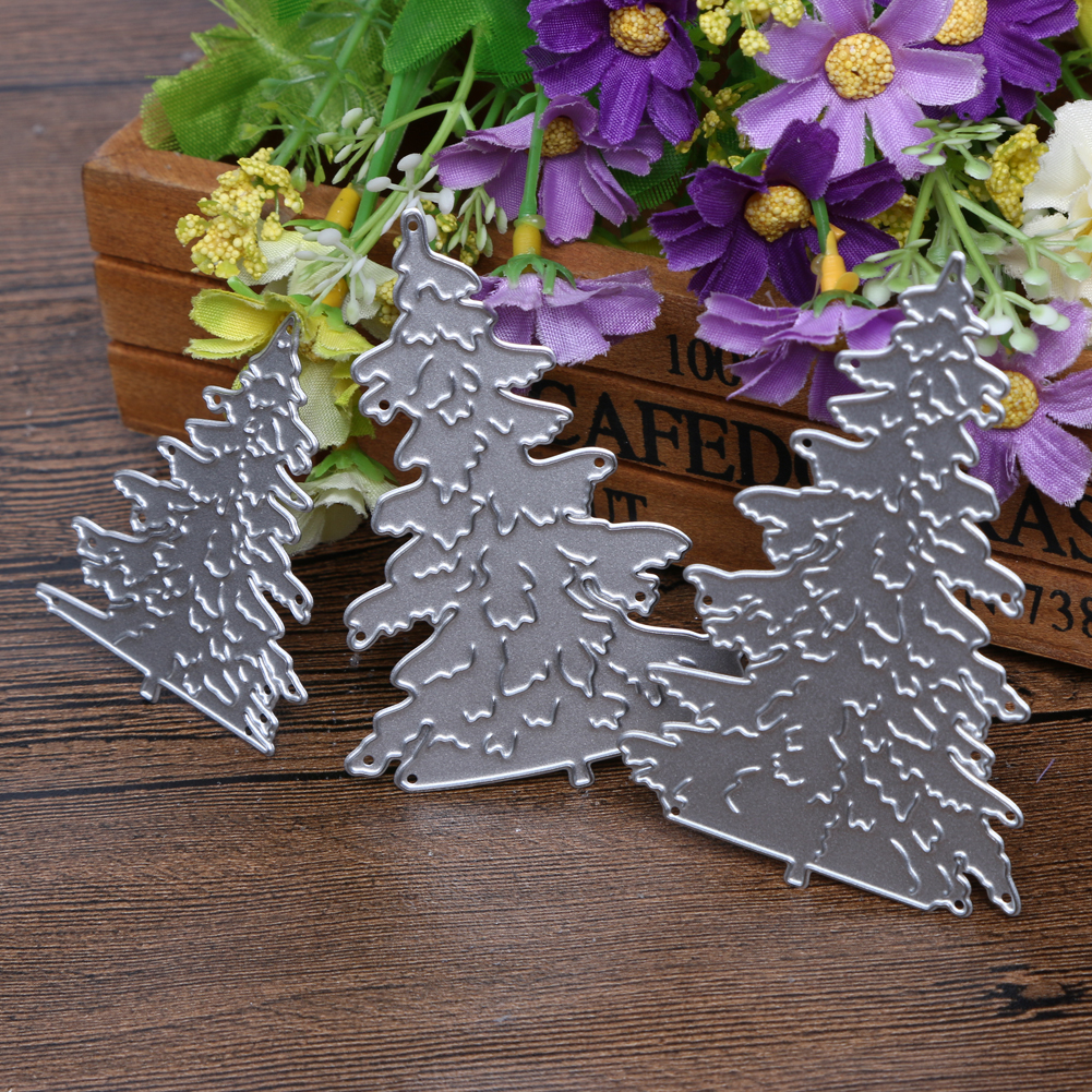 3pcs Lot Christmas Tree Cutting Dies For Scrapbooking Diy