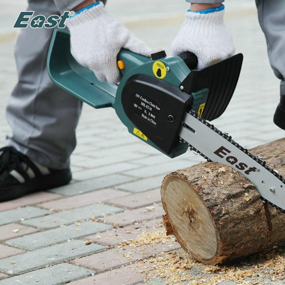 East Garden outils électriques ET2506 18 V 2000mA. h ni-cd batterie tronçonneuse 10'Bar et chaîne tronçonneuse sans fil scie électrique rechargeable