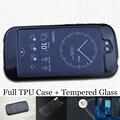 Capa de silicone para a yota yotaphone 2 transparente claro macio tpu gel case para yotaphone2 vidro temperado frente + voltar hd película transparente