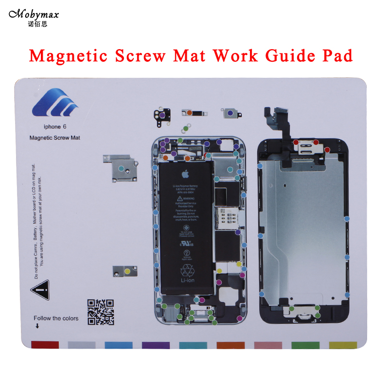 Magnetic Screw Mat Work Guide Pad for iphone 5s 6 6s 6 plus 6s plus 7 7 plus Professional Plate Repair Tools for 6plus 6splus 7p