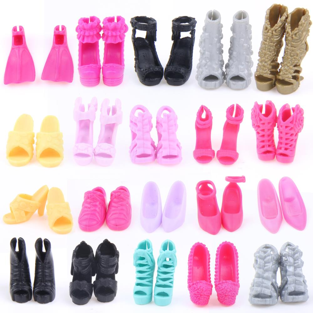 UCanaan Random Decide A Lot = 50 Pairs Authentic Sneakers Excessive High quality Combine Type Combine Coloration Equipment For Barbie Doll Wholesale DIY