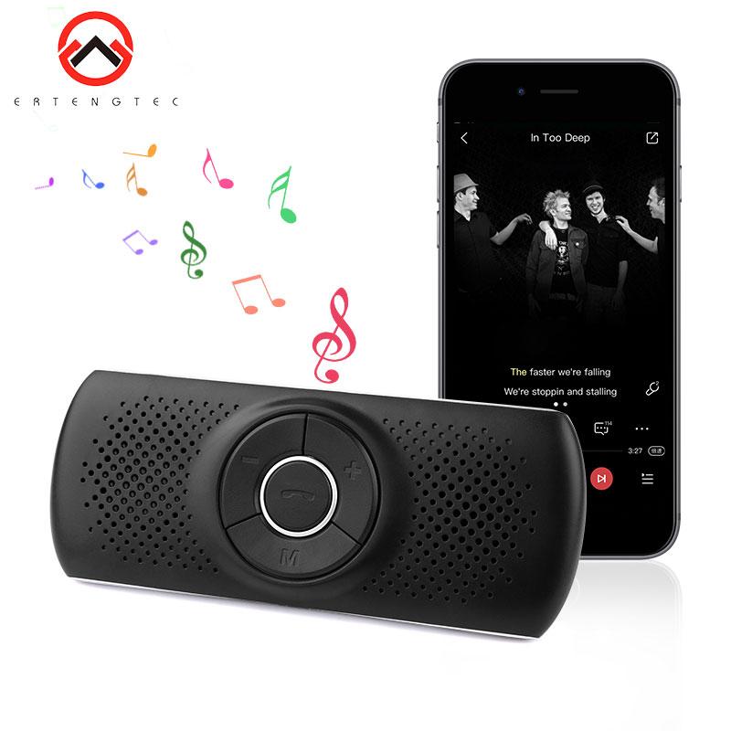 Car Bluetooth Speaker Phone Mic HandsfreeT826 Bluetooth Car Kit Noise Cancelling Speakerphone For two Phones Bluetooth 4.2 EDR