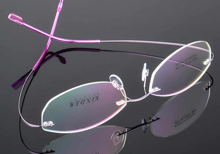 f7ee353969 New ultra-light rimless Optical frame women Titanium Alloy eyeglasses frame  Myopia Prescription glasses frames