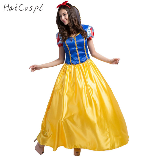 High Quality Plus Size Snow White Costume For Women Fairy Tale