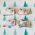Travesseiros de bebê INS Câmera Em Forma de Brinquedo De Madeira Dos Desenhos Animados Travesseiro para Decoração do Quarto das Crianças Recém-nascidas Mão Fazer Infantil Presente de Natal