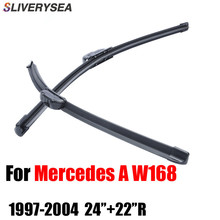 SLIVERYSEA Auto Car Windshield Wiper Blades Prices For Mercedes A W168 1997-2004 24+22R Rubber Strip Accessories