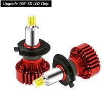 2019 New arrival 3D 360 Lighting 14000lm 6000k LED auto headlight Cree CSP Chips H7 H1 9005/06 H11 LED Car headlight bulb turbo