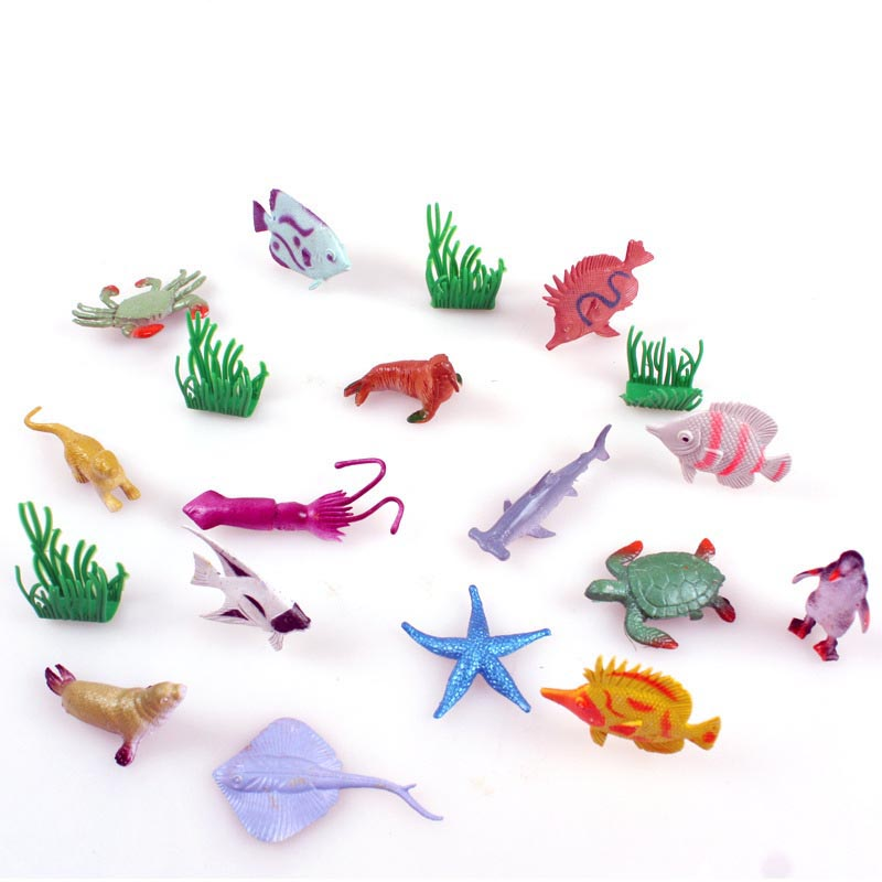 Adroit Baby Early Learning 16pcs/set Fish Seaworld Simulation Model Toy Animal Suits Pvc Model Classic Toys Christmas Gift Holiday Gift Strengthening Sinews And Bones Toys & Hobbies