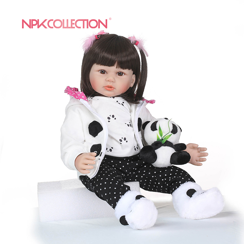 NPKCOLLECTION Soft Silicone Reborn Dolls Baby Realistic Doll Reborn 22 Inch Silicone Vinyl Boneca BeBes Reborn
