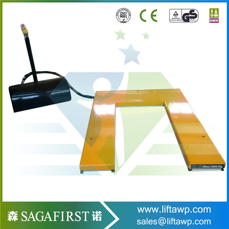 U shape low-type scissor electric lift table use