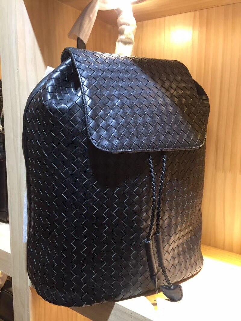 2018 a mano a maglia borse Zaino di Alta qualità di pelle di pecora di Alta-capacità in Vera pelle di Maschio e femmina general-purpose Mountaineer