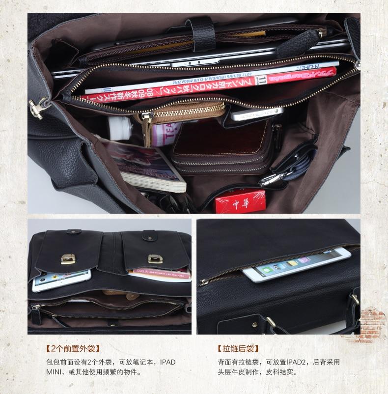 muške kožne torbice za muškarce torbe od prave kože za torbu od - Aktovke - Foto 6